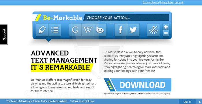 Remove Be-Markable adware