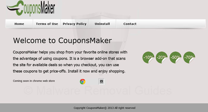 Remove CouponsMaker adware