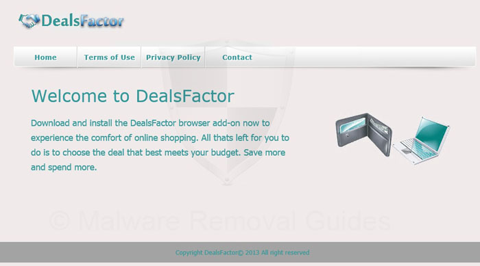 Dealsfactor ads remove