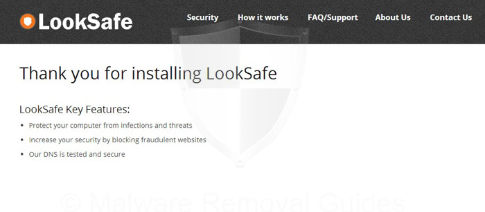 Remove LookSafe virus