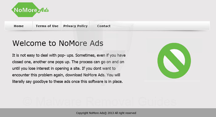 Remove NoMoreAds adware