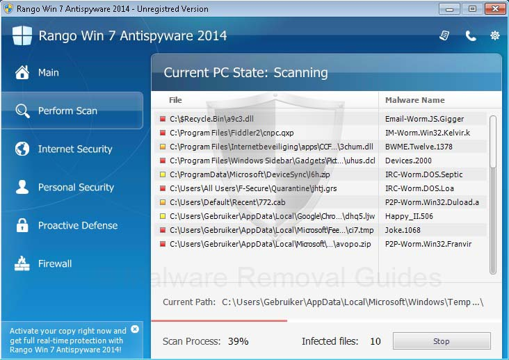 Rango Win7 Antispyware 2014