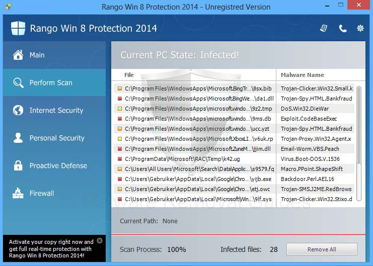Rango Win 8 Protection 2014