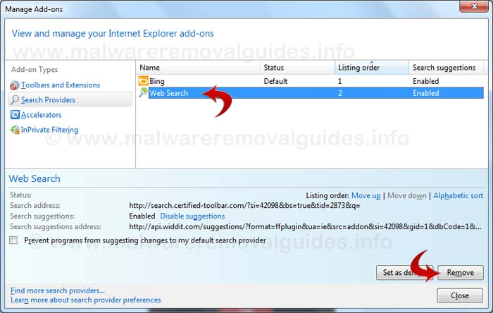 Remove Default-search.net - How to remove