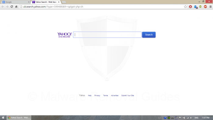 Spigot.Yahoo redirect Removal Guide
