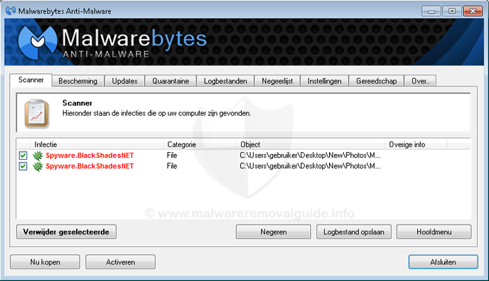 Spyware.BlackShades.NET - Removal Guide