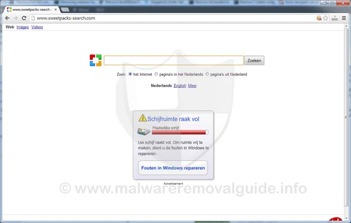 Sweetpacks-search.com Browser Hijacker Removal Guide