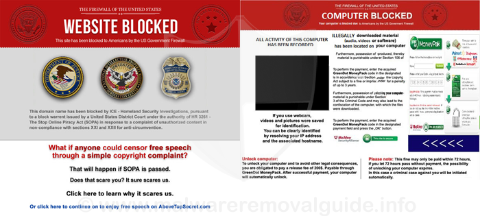 US Government Firewall Virus Removal Guide