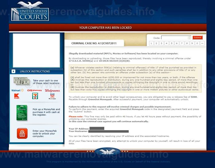 United States Courts Ransomware - Removal Guide
