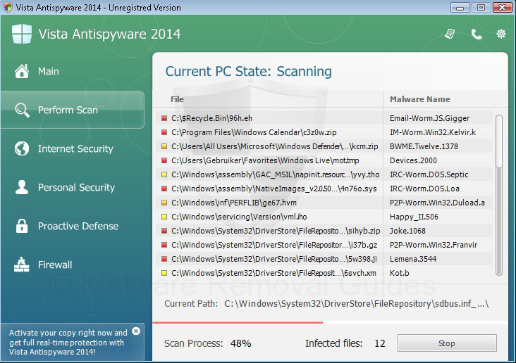 Remove Vista Antispyware 2014 (rogueware removal guide)