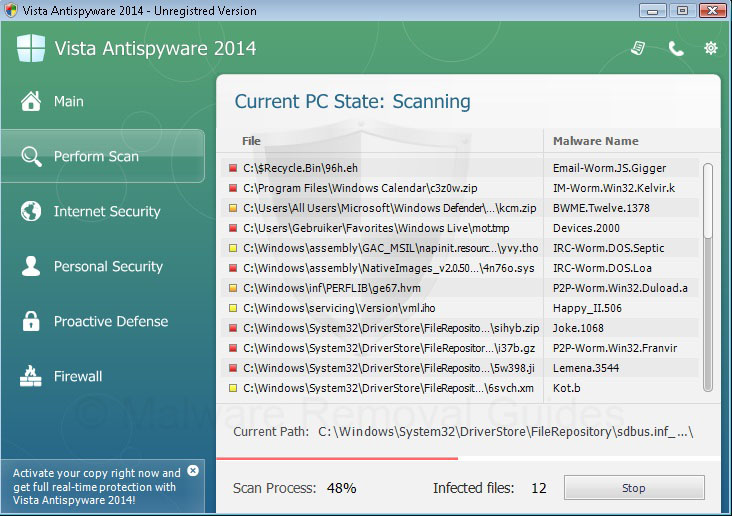 Remove Vista Antivirus 2014 (rogueware removal guide)