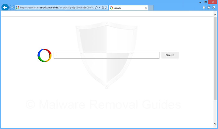 Websearch.searchissimple.info browser hijacker Removal Guide