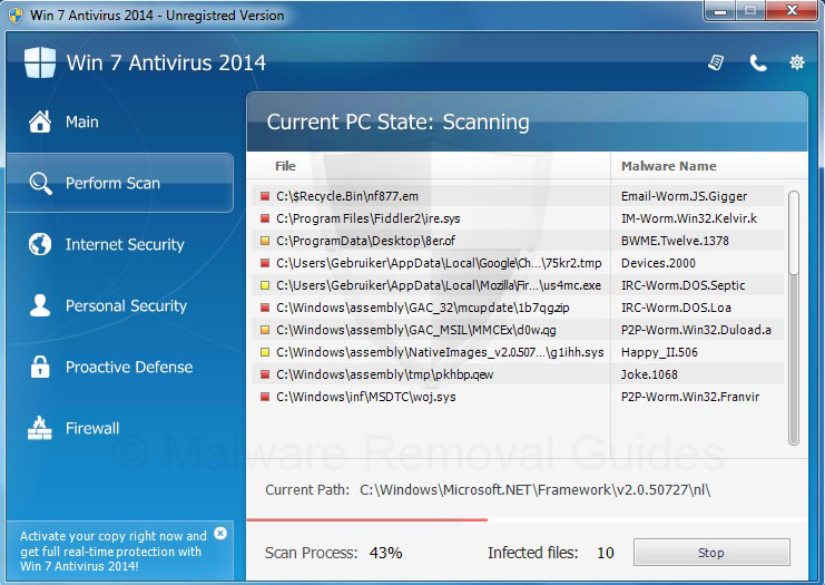 Remove Win 7 Antivirus 2014 (rogueware removal guide)