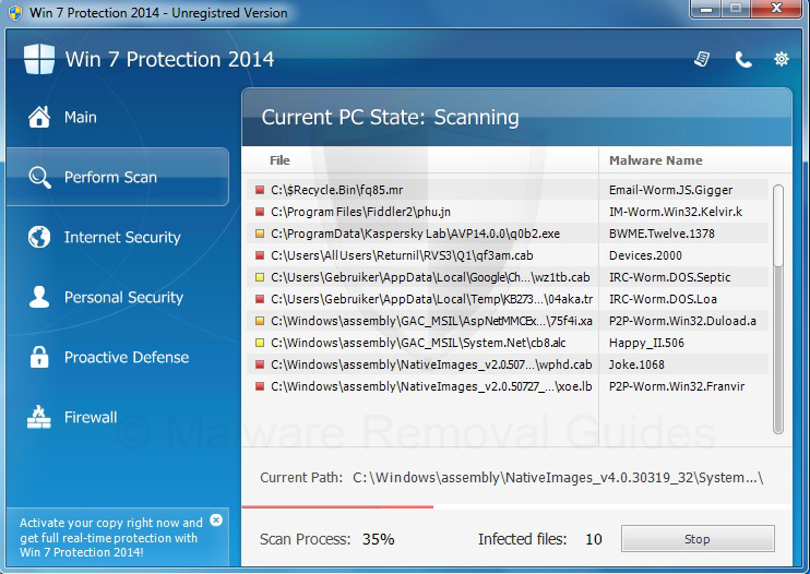Remove Win 7 Protection 2014 (rogueware removal guide)