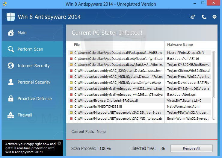 Remove Win 8 Antispyware 2014 (rogueware removal guide)