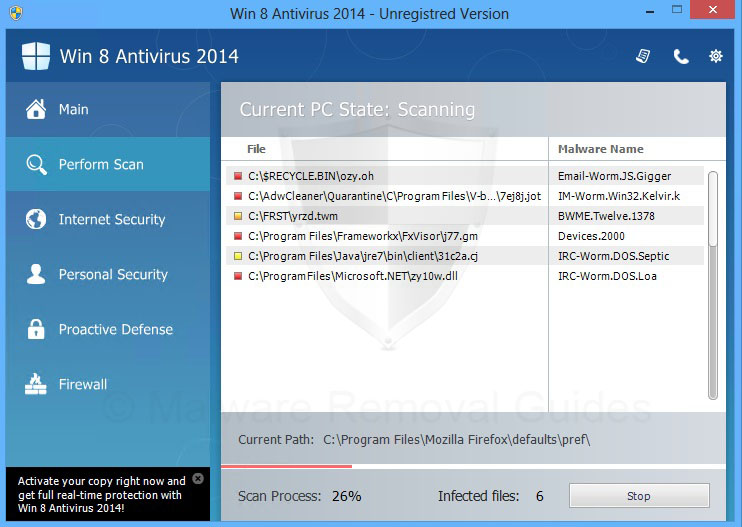 Remove Win 8 Antivirus 2014 (rogueware removal guide)