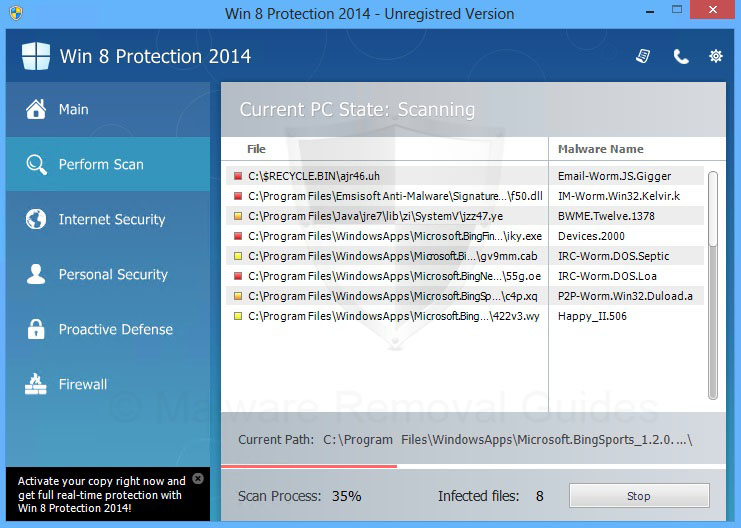 Remove Win 8 Protection 2014 (rogueware removal guide)