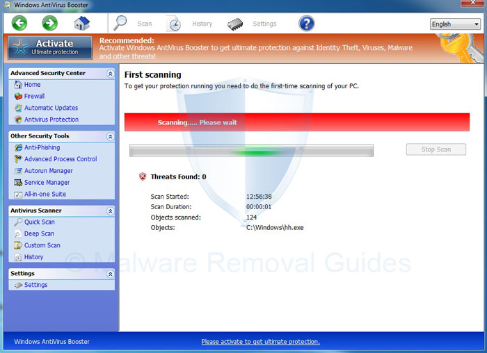 Remove Windows AntiVirus Booster (Removal Guide)