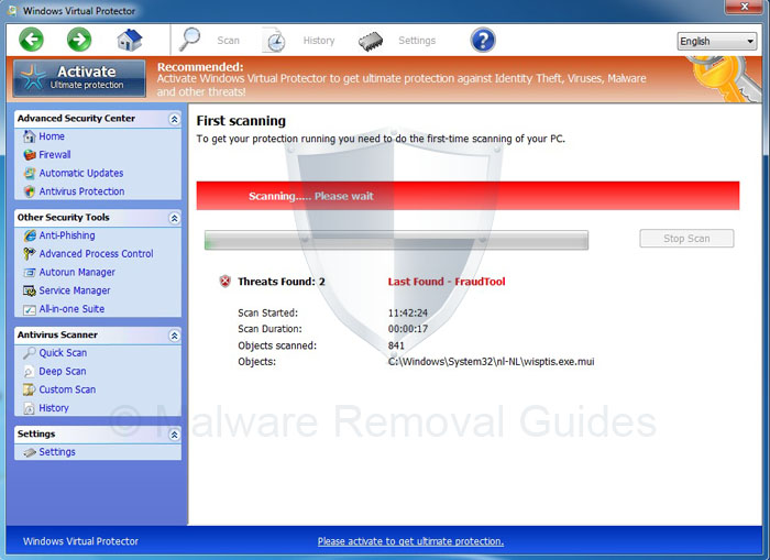 Windows Virtual Protector Removal Guide