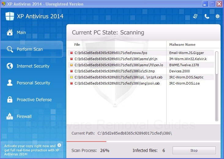 Remove XP Antivirus 2014 (rogueware removal guide)
