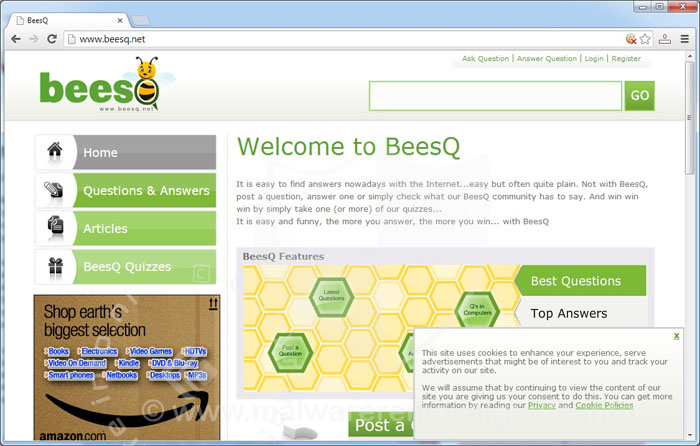 Beesq.net Removal Guide
