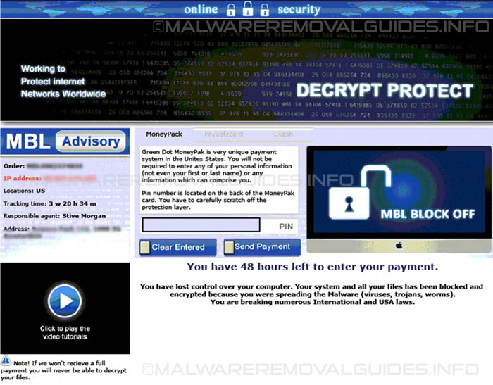 Decrypt Protect Virus - Removal Guide