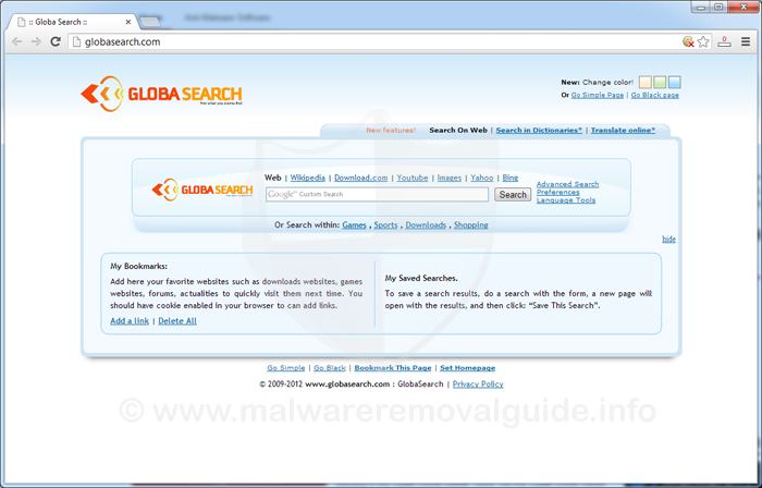 GlobaSearch.com Removal Instructions