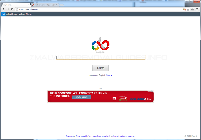 Snapdo Browser Hijacker Removal Instructions