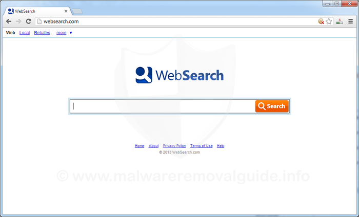 Websearch.com redirect Removal Guide