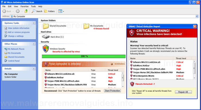 XP Micro Antivirus Online Scan - Removal Guide