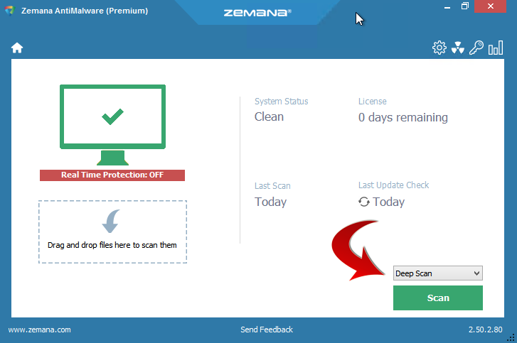 Zemana AntiMalware Deep Scan